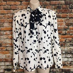 Vintage cow print blouse , 4